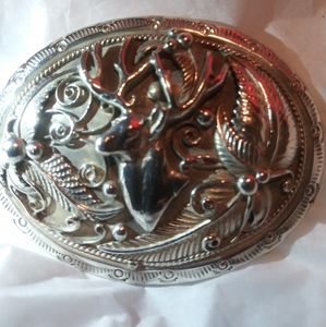 DBL-T Elk--.925 Sterling Belt Buckle